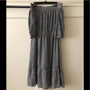 Old Navy gingham off the shoulder midi dress